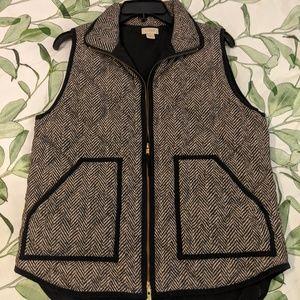 J. Crew Herringbone Puffer Vest Medium